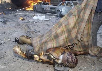 """Ciało Haririego po wybuchu niwego typu zachodniej """"inteligentnej"""" bomby"""