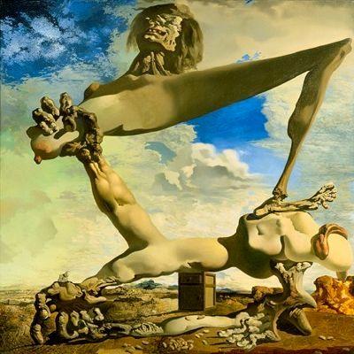 Prémonition de guerre, par Salvador Dali
