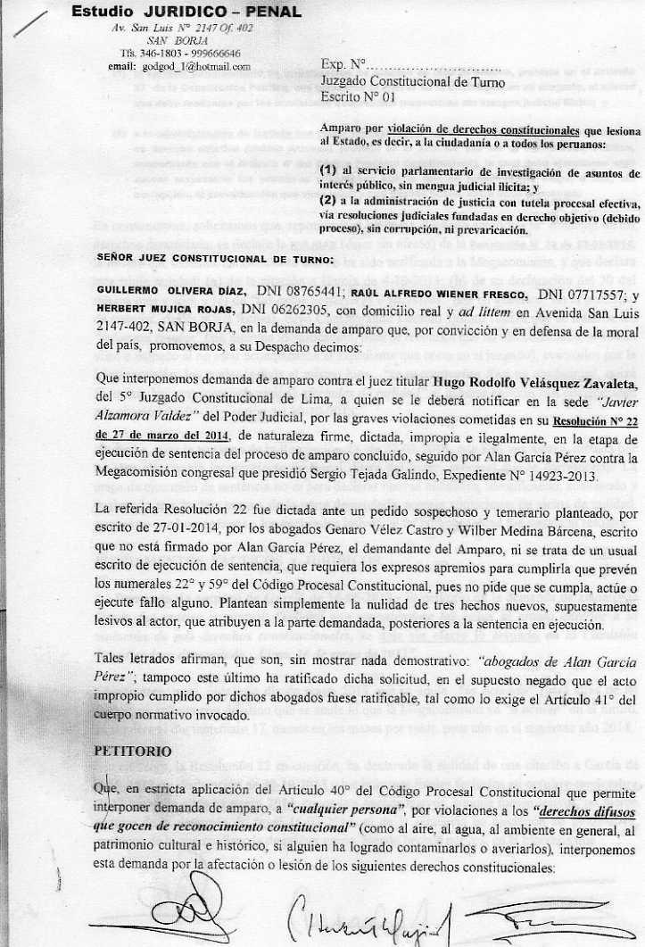 ¡Demanda de Amparo contra juez de García!, por Herbert
