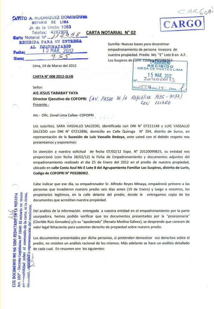 Ejemplo De Sello Notarial | proyecto de ley del notariado