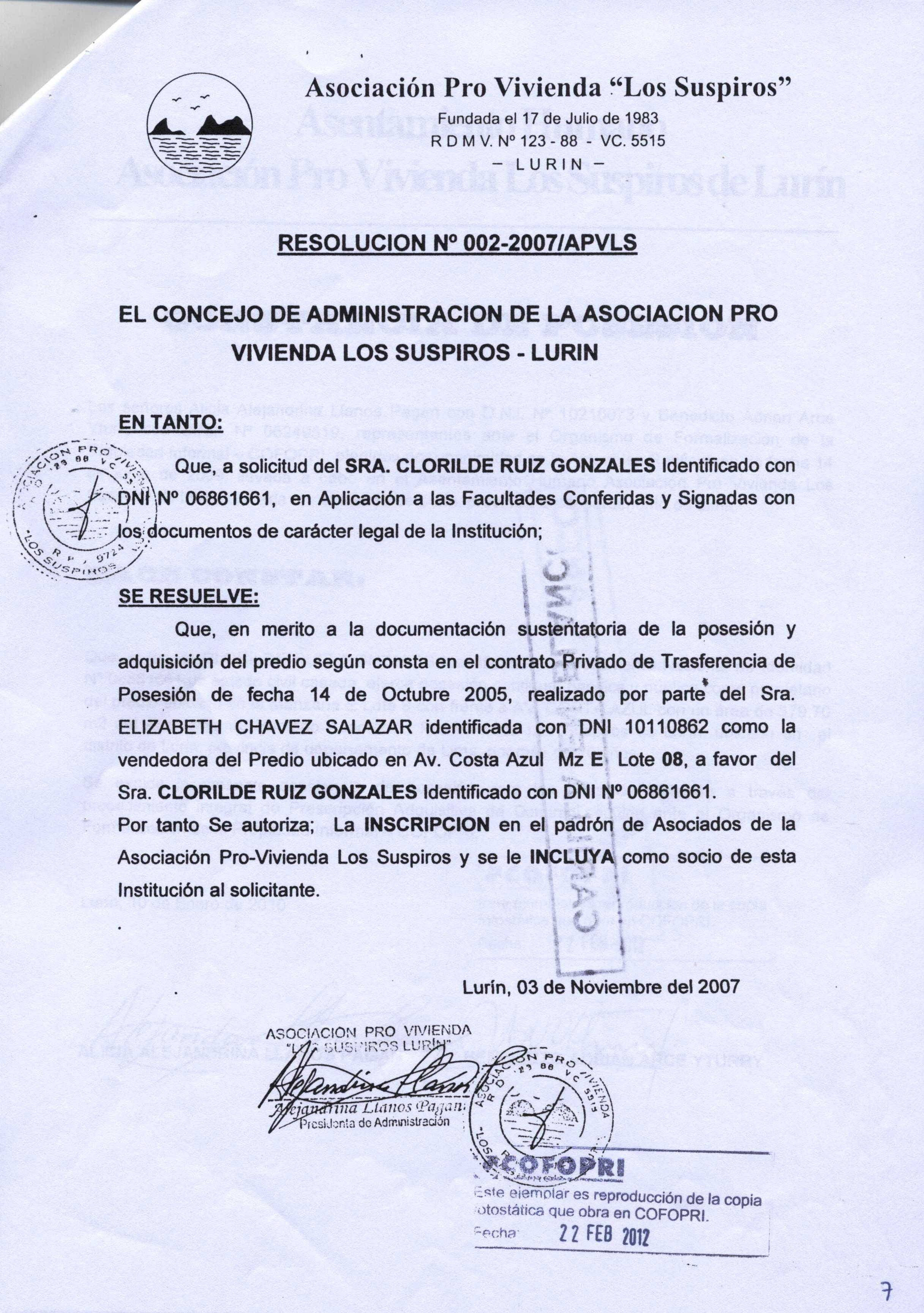 La conexión Cofopri 4, por Herbert Mujica Rojas
