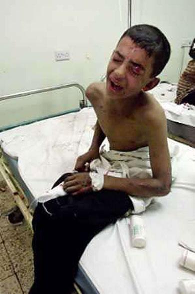 اطفال العراق وفلسطين ضحايا الصمت