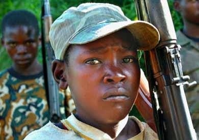 Niños soldados en la guerra civil de Congo