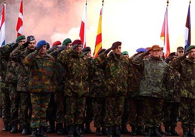 Soldados de la OTAN, cuartel general Heidelberg