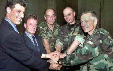 Risultati immagini per Bernard Kouchner con Agim Ceku immagini