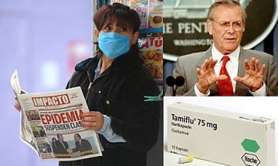 ¿Sabía usted que el virus de la influenza porcina apareció por primera vez en Estados Unidos y que el único medicamento al que parece responder es producido por un laboratorio del que es directivo y propietario Donald Rumsfeld?
