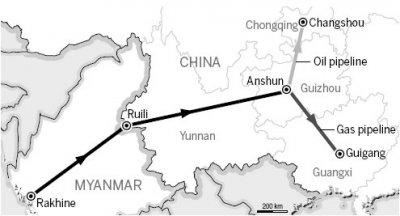Indispensabili all'economia cinese, gli oleodotti dello Yunnan finiscono sulla costa del Pacifico nella provincia di Arakan/Rakhine.