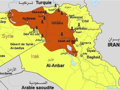 Mapa Al-Anbar