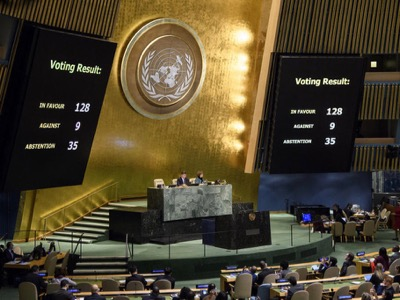 UN Approves Resolution Rejecting US Decision on Jerusalem