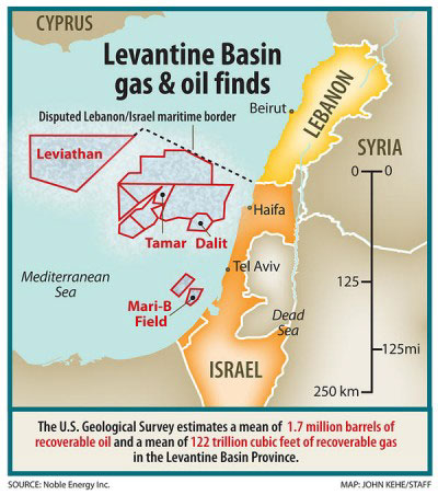 Levantine Basin Gas Field fb519