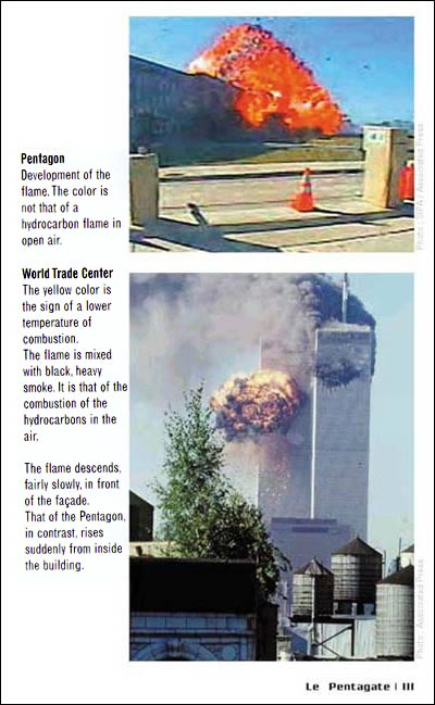 comparing fireballs of world trade center and pentago - photograph